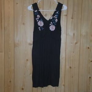 Large brown and floral dress